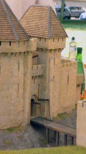 Maquette château médiéval de Bayeux au 1/72.