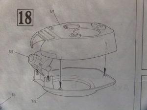 Assemblage tourelle T34/85. Notice maquette Dragon.